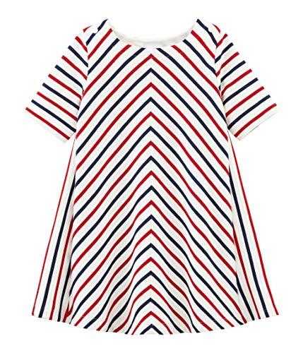 Petit Bateau Mädchen Brandy Kleid, Mehrfarbig (Marshmallow/Multico 01), 4 Jahre (Brandy Kleider)