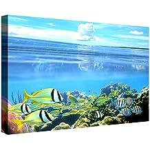 Ccretroiluminados Fondo del Mar Cuadro Retroiluminado, Acrílico, Multicolor, 60x80x5.3 cm