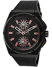 Rotary Evolution - Reloj cronógrafo de cuarzo para hombre con correa de plástico, color negro