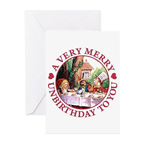 CafePress-A Very Merry Unbirthday to You-Grußkarte, Note Karte, Geburtstagskarte, innen blanko, glänzend