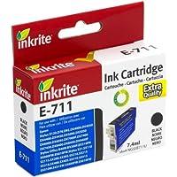 Inkrite Printer Ink for Epson D78 D92 D120 DX4000 DX4400 DX5000 DX6000 - T071140 Black