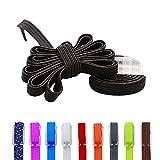 db Lacets élastiques,lacets colorés pour enfants, adolescents, adultes, confortables, les lacets de remplacement pour chaussures plates/de sport/de course/de loisirs/de danse des chaussures.