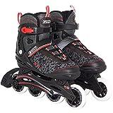 Best Sport Erwachsene Inline-skates Inline-Skates, schwarz/rot/weiß, 43-44, 2307263