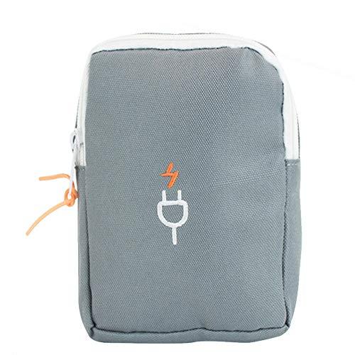 DDG EDMMS Reise Gadget Aufbewahrungstasche Universal-Koffer kleine elektronische Produkte und Zubehör Multifunktions-Portable Reisen Waschbeutel dunkelgrau