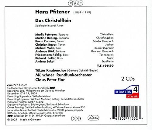 Pfitzner : Das Christelflein. Peterson, Rüpping, Volle, Röhlig, Flor.