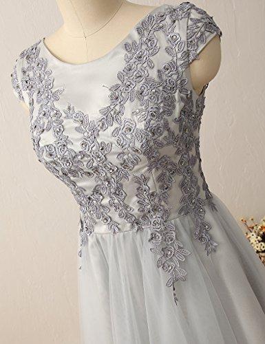 HUINI Damen Modern Kleid Steel_Grey
