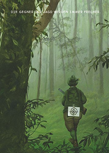 Postkarte A6 • 1468 ''Die Gegner der Jagd'' von Inkognito • Künstler: Gerhard Haderer • Satire