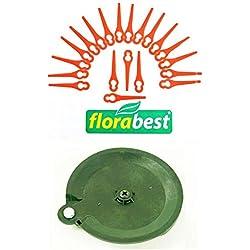 20 lames & 1 disque de coupe pour votre débroussailleuse Florabest LIDL sans fil FAT 18 B3 IAN 102971