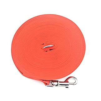 50ft/15m dog/horse training lead large (25mm) in various colours (red) (cpm) 50ft/15m Dog/Horse Training Lead Large (25mm) In Various Colours (RED) (CPM) 517p29uOHxL