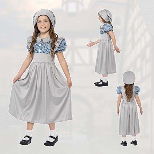 d Kinderkostüm Schulmädchen L 152/164 9 – 12 Jahre Historisches Kostüm 19. Jahrhundert Mädchenkostüm Schulkind Faschingskostüm kleine Lady Mittelalterkostüm Kinder (19 Jahrhundert Kostüme)