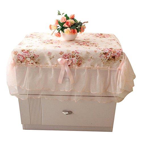 Hemore Tischdecken Land kleine Spitze Tisch Tuch Bettdecke Tisch Tuch Stoff Tisch Tuch mit einem großen Tisch Deckel 1pc 75 * 80cm -