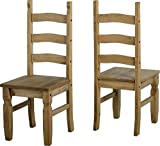 Corona Distressed Pine Set of 6 Dining Chairs