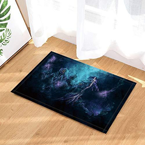 Starlight Rock (HTSJYJYT Fantasy Badteppiche Galaxy Starlight Rock-Göttin-Nymphe-Meerjungfrau in der Dunkelheit rutschfeste Fußmatte Bodeneingänge Indoor-Haustürmatte Kids Bath Mat 60X40CM)