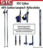 STC Cyber Skate Blade, Rollerstöcke, Nordic Skating Stöcke 60% Carbon 165 cm