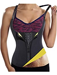 51832d46fb Gotoly Womens Hot Sweat Body Shaper Sauna Tank Top Tummy Fat Burner  Slimming (Black L