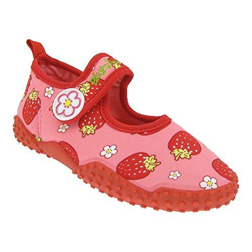 Playshoes Kinder Aqua Schuhe UV Schutz Mädchen ERDBEEREN (174757 Strawberries) EU 30-31