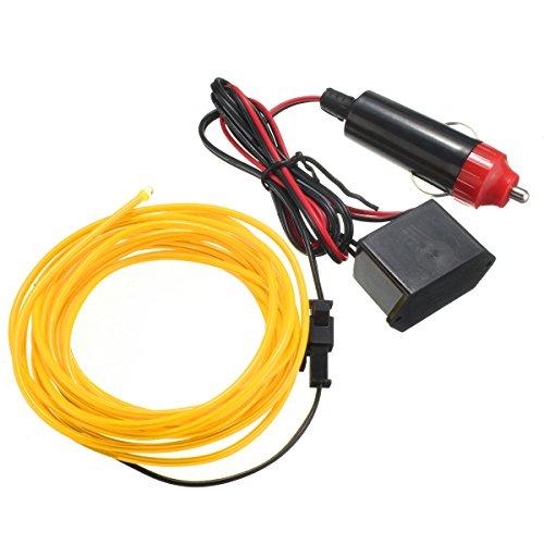 Wooya 300Cm EL Neon Light Effect Light Cable Cord Wire 12V Wechselrichter-Gelb