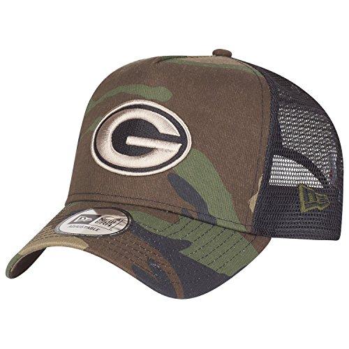 New Era Adjustable Trucker Cap - Green Bay Packers Wood camo -