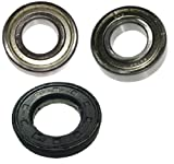 Juego de rodamientos de tambor para lavadora Privileg AEG 6205ZZ / 6206ZZ, sello...