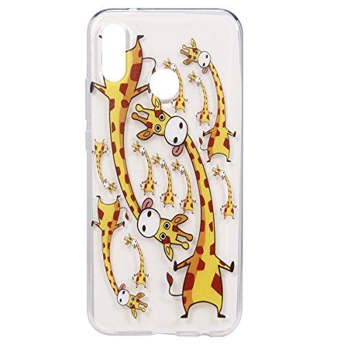 Coque Huawei P20 Lite,Etui Housse Huawei P20 Lite,Surakey Impression de Motif Transparente Souple Silicone Housse Etui Coque de Protection en TPU Bumper Case pour Huawei P20 Lite, Girafe
