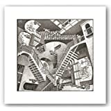 Relativity by M.C. Escher Art Print Poster