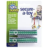 Best Baby Buddy Toddler Toothbrushes - Baby Buddy 2 Piece Secure-A-Toy, Navy/Green Stich Review