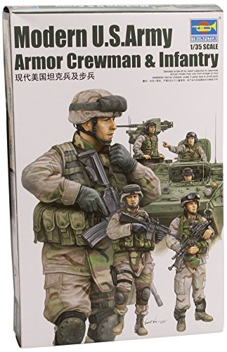 trumpeter-135-modern-us-army-armour-crew-and-infantry-set-tru00424