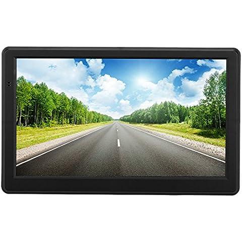 KKmoon 7 Sistema de navegación GPS, pantalla táctil de móvil para coche, 128 MB de RAM, 4 GB, con radio FM, diseño de coche para navegador tarjeta