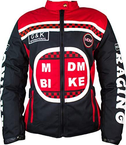 Damen Racing Jacke mit Protektoren in Rot (M)