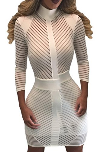 la-vogue-damen-charmant-abendkleid-transparent-gestreift-cocktailklei-minikleid-m-brust85cm102cm