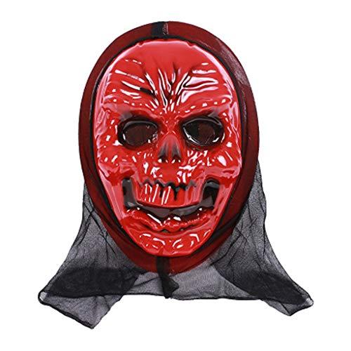 aske Totenkopf Geist Gruselig Terror Schrei Maskerade Party Cosplay Kostüm a ()