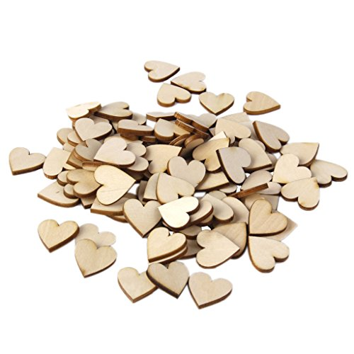 Plain Wooden Heart Embellishments for Crafts 30mm Pack of Approx.50pcs Test