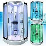 AcquaVapore DTP8058-6002 Dusche Dampfdusche Duschtempel Duschkabine 100×100 XL, EasyClean Versiegelung der Scheiben:2K Scheiben Versiegelung +89.-EUR - 7