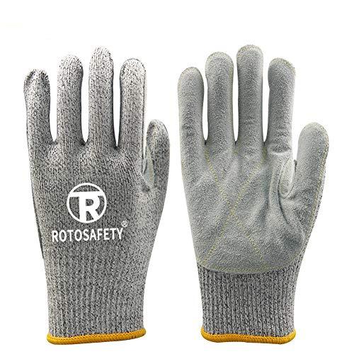 Spaltlederhandschuhe Ideal für Baustelle, Garten, Industrie oder Landwirtschaft