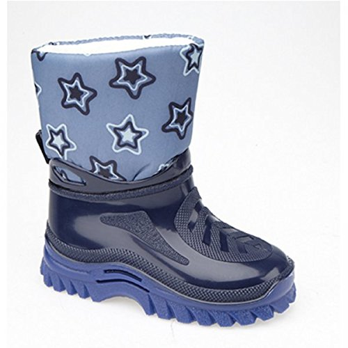 StormWells Ben Warmlined Boys Star Camouflage Wellingtons Moon Boots