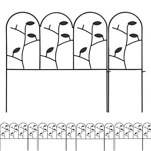 46cm X 214cm Gartenzäune Aus Metall Set Zaunelementen Dekorative Blätter Zaun Komplettset Zaun Metall Holz Draht Zäune Mobiler Gartenzaun Metall Klein -