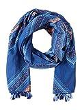 TOM TAILOR für Frauen Accessoire Gemusterter Schal deep ultramarine blue, OneSize