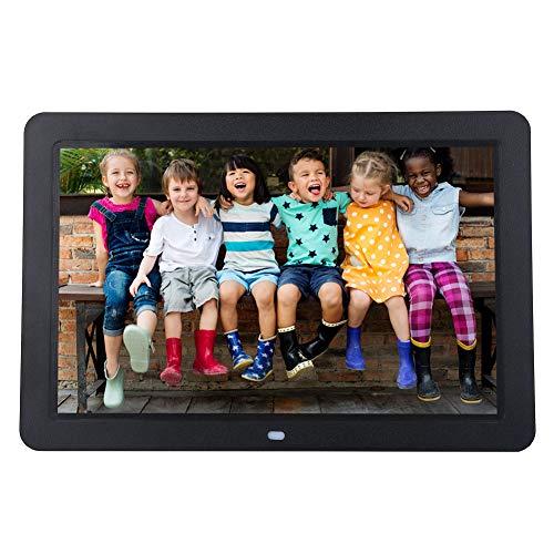 Cadre Photo Numérique, Full HD 12 Pouces Haute Résolution 1280 x 800 Ultra Mince Support Musique/Vidéo / EBook/Horloge / Calendrier/Carte SD 32G Electronic Photo Frame avec Télécommande.(Noir)