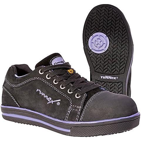 Runnex 5380 - Señoras calzado de seguridad s3 esd girlstar zapatos ligeros para mujer talla 42,