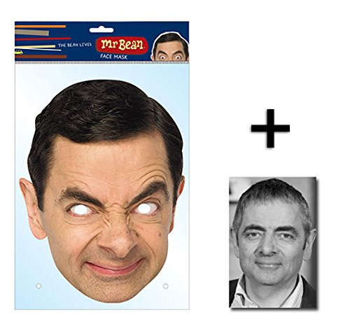 Mr Bean Official Single Karte Partei Gesichtsmasken (Maske) Enthält 6X4 (15X10Cm) (Masken Hollywood Kostüme)