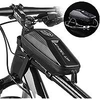 YOUKUKE Bolsa para Cuadro de Bicicleta, Bolsa Impermeable para Bicicleta, Bolsa para Manillar de Bicicleta con Orificio para Auriculares para Bicicleta de montaña y Carretera