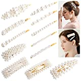 Perlen Haarspangen,Aiglam 12PCs Handmade Frauen und Mädchen Perle Haarnadeln Barrettes für Party, Geburtstag Valentinstag Geschenke