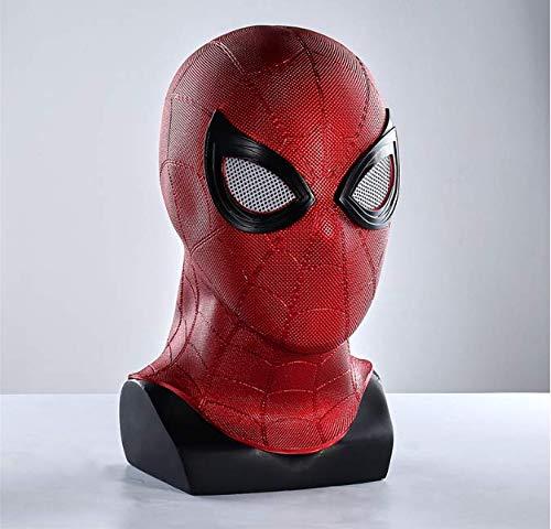 Kostüm Red Helm - LHZZ Spiderman Iron Spider Cosplay Kostüm Erwachsenenmaske Helm Red PVC Helm