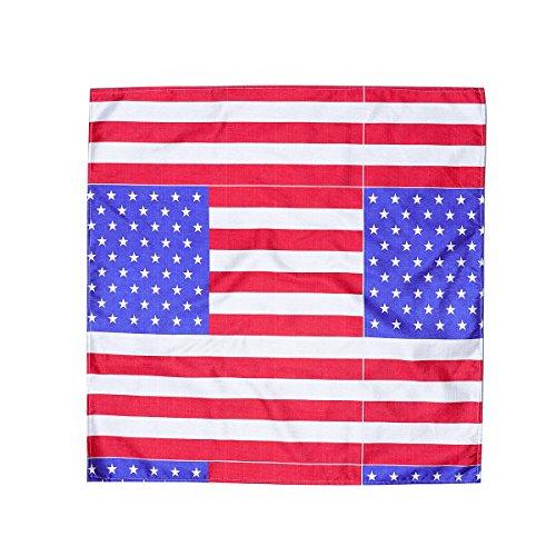 BESTOYARD Amerikanische Flagge Tischdecke Sterne Streifen Party Tischdekoration Land Hotel Esszimmer Küche Rechteckige Tischdecke 70x70 CM