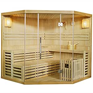 artsauna traditionelle saunakabine finnische sauna espoo 200 x 200 cm 8 kw baumarkt. Black Bedroom Furniture Sets. Home Design Ideas