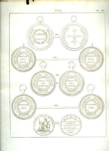 Histoire numismatique de la révolution française. planche n°36 : 1792