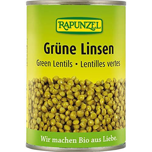 Rapunzel Bio Grüne Linsen in der Dose (6 x 400 gr)