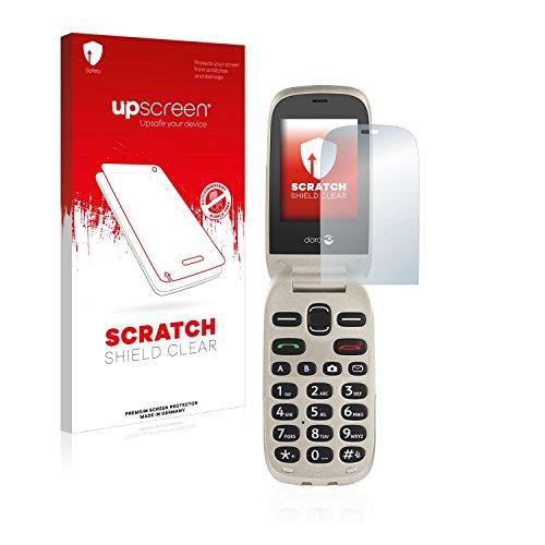 upscreen Scratch Shield Schutzfolie kompatibel mit Doro 6030 - Kristallklar, Kratzschutz, Anti-Fingerprint