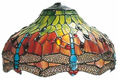LumiLamp 5LL-9202 Tiffany Stil Glas Lampenschirm Ca. Ø 30 cm dekoratives buntglas handgefertigt glasschirm