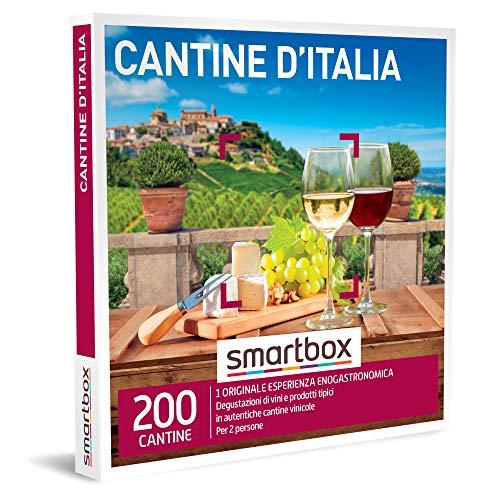 Smartbox - cantine d'italia cofanetto regalo gourmet interessanti degustazioni di vini e prodotti tipici per 2 in selezionate cantine italiane